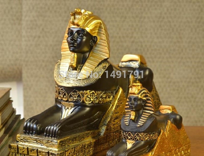 Decoration  The Sphynx for EGYPT Real life escape game props decorate escape room props statue