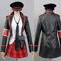 Anime Vocaloid MIKU Cosplay traje uniforme militar de moda del partido de la falda del vestido abrigo de piel conjunto completo