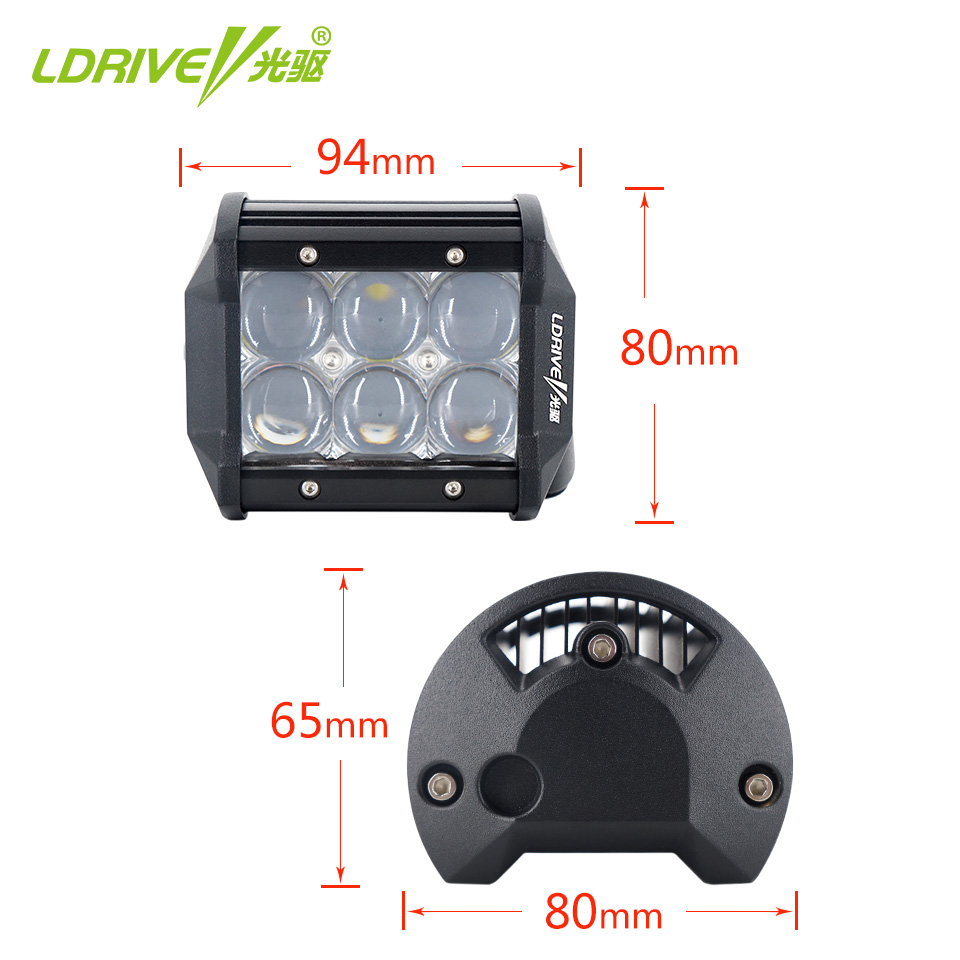 LDRIVE 5D 30W LED Light Bar 4 39 39 Spot Flood Car SUV 4WD 4x4 Truck Boat Tractor Wagon Trailer Auto ATV Offroad Headlight 12V 24V in Light Bar Work Light from Automobiles amp Motorcycles