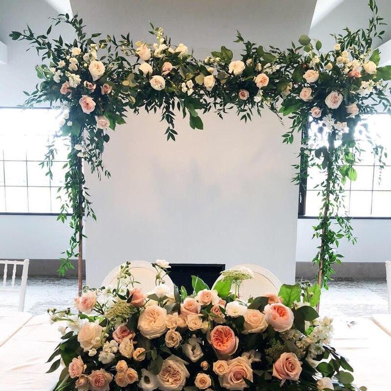 SPR 2 m/partia okazji ślubu kwiat ściany etap tło bieżnik arch floral dekoracyjne sprzedaż hurtowa sztuczny kwiat w Sztuczne i zasuszone kwiaty od Dom i ogród na  Grupa 1