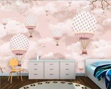Beibehang Wallpaper mural cartoon hot air balloon children room background wallpaper home decoration TV 3d
