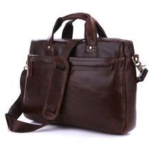Real genuine leather bag Men's Briefcase Cowhide men messenger bags natural cowskin 14″ laptop handbag man #MD-J7075