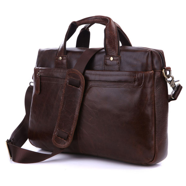 Vintage Genuine Leather Mens Briefcase Portfolio Satchel Shoulder Bags For Men Bag 14 Laptop Bag Coffee Handbag #MD-J7075Vintage Genuine Leather Mens Briefcase Portfolio Satchel Shoulder Bags For Men Bag 14 Laptop Bag Coffee Handbag #MD-J7075