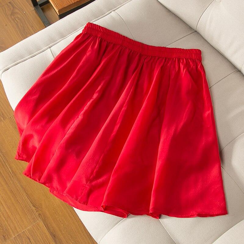 prawdziwy czarny falda spódnica 15