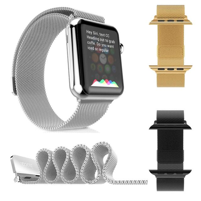 Original HOCO Milanese Loop Watch Band For Apple Watch Series 2 Stainless Steel Wrist Strap Magnetic Closure Bracelet For iWatch
