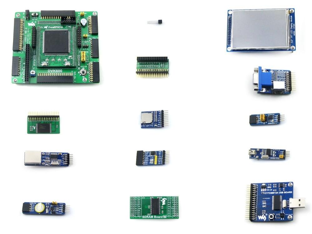 Paquet de OpenEP3C16-C A # EP3C16 EP3C16Q240C8N Cyclone III ALTERA carte de développement FPGA + 13 Kits de Modules d'accessoires