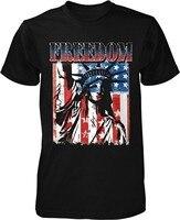 T Hemd Grafiken O-ansatz Männer Kurzarm Mode 2016 Freiheit Freiheitsstatue Juli. USA herren T-shirt Abschlag Shirts
