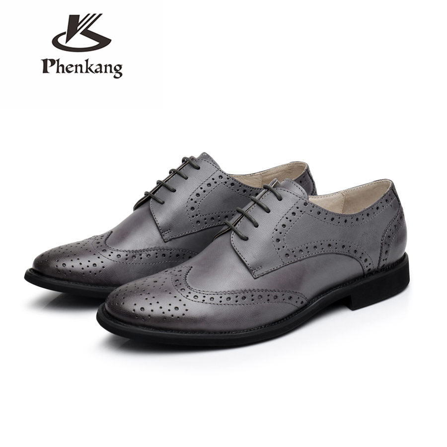 100% Genuine sheepskin leather brogue yinzo ladies flats shoes vintage handmade sneaker oxford shoes for women black grey green genuine leather woman size 9 designer yinzo vintage flat shoes round toe handmade black grey oxford shoes for women 2017