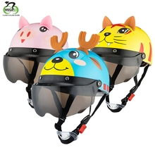 Bicycle Childrens Helmet Kids Summer Cute Cartoon Protective Gear Safety with Goggles Skating Scooter moto