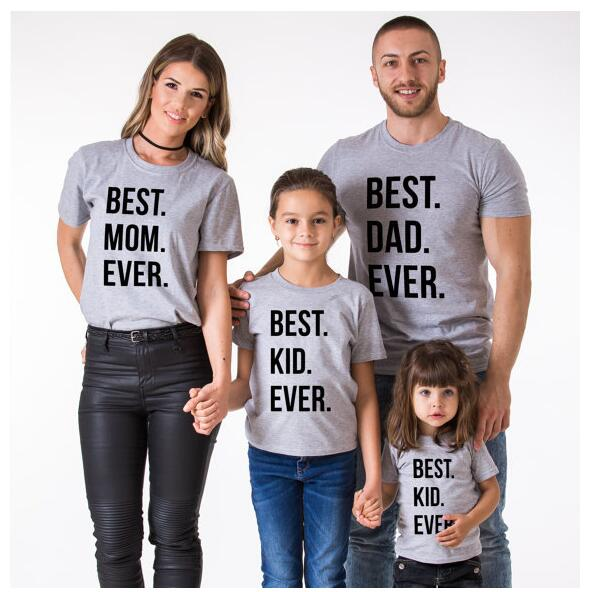 3f87cf27d0b Family matching look summer cotton t shirts fathers mother day gift best dad  mom