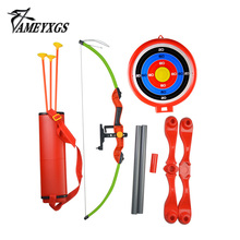 1 Set Archery Kids Bow And Arrow Toy Target Stand Board Quiver Children Outdoor Shooting Game