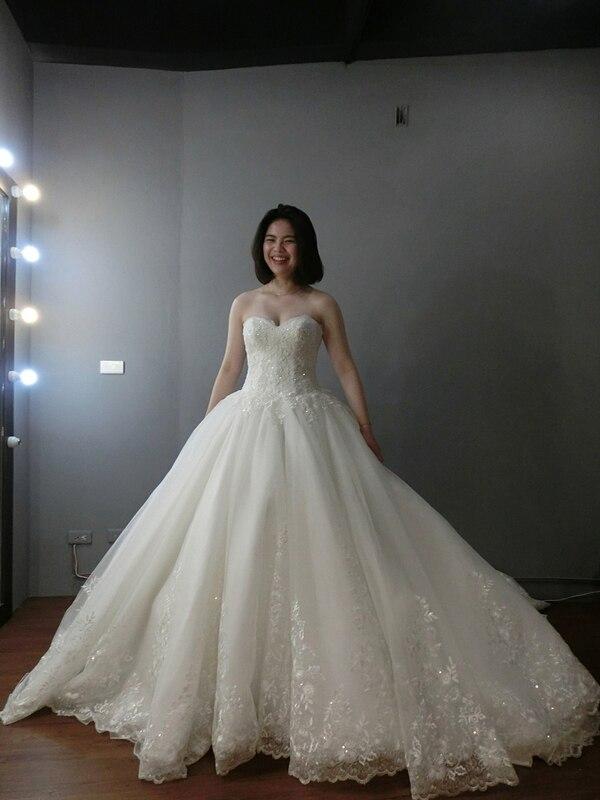 Vestidos de noiva robe de mariée 2018 robe de mariée simple robe de bal de mariée photo réelle mariage robe de luxe 2019