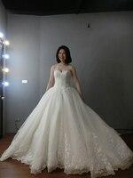 vestidos de noiva wedding dress 2018 bride dress simple bridal ball gown real photo weddingdress luxury 2019