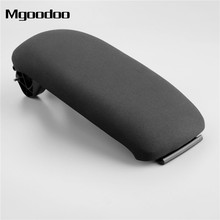 Mgoodoo 1Pc Car Center Console Armrest Lid Cover Black Cloth 8P0864245P 8P0864245 8P0864245P8E1 For Audi A3 S3 8P 2003-2012