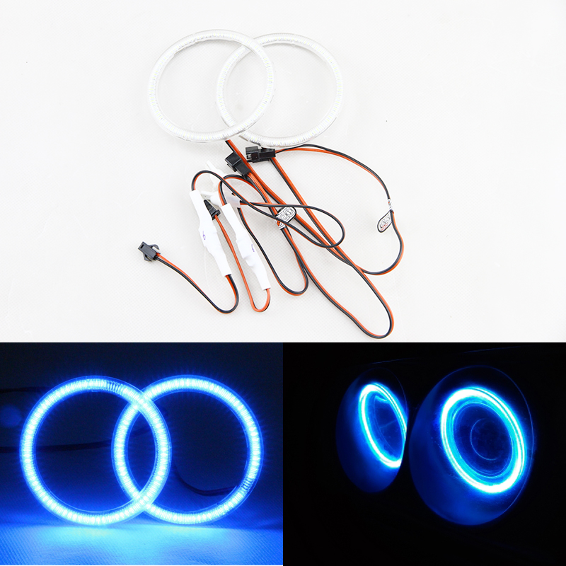 Auto Halo Ring 3014 SMD Headlight 2*105mm Angel Eyes Kit Led Motor Car DRL Angeleye 105mm DRL W/Cover For Motorcycle 1 pair car angel eyes led car halo ring led angel eyes headlight drl for bmw day lights for car auto moto motorcycle dc 12v 3w