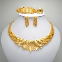 Fashion African Beads Jewelry Set Nigeria Women Jewelry Sets Dubai Gold color jewelry set fashion african jewelry set yellow plastic blue and crystal nigeria wedding african beads jewelry set free shipping yj 215