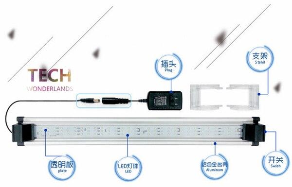 Atman LG serise ulter-thin aquarium lamp adjustable LED Light aquatic plant lamp aquariums accessories