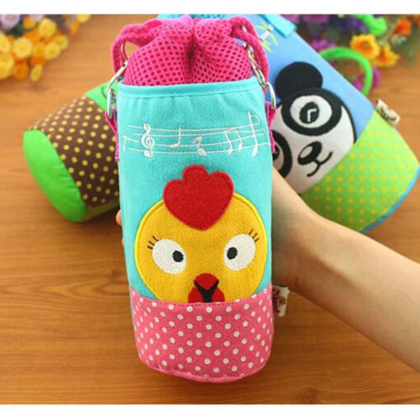 Baby Insulation Bags Newborn Feeding Milk Bottles Cage Cover Plush Pouch Soft Feeder Cover Storage Bottle Case Duck Tortoise