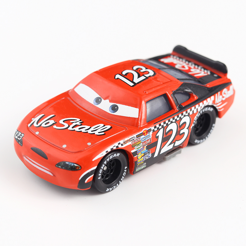 Cars Disney Pixar Cars No.123 No Stall Metal Diecast Toy Car 1:55 Loose Brand New Disney Cars2 And Cars3 Free Shipping disney cars 61 см