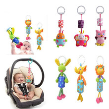 hot Baby Hand Bell Animal Windbell Rattles windbells animal shape bed/car hanging bells educational toys plush dolls