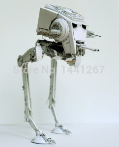 Star Wars AT-ST Robot Model 3D Paper Model DIY Assembled Handmade Toy