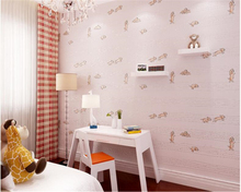 beibehang Childrens room non-woven 3d wallpaper boy girl fine pressure 3D foam environmental papel de parede