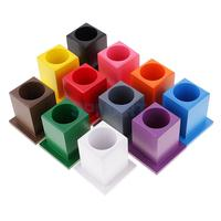 Children Montessori Material Beechwood Toy 11 Colored Pen Container Holder