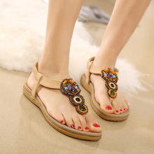 New women sandals 2019 summer casual bohemian national style flip-flops with fashion ladies shoes
