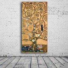 Gustav Klimt Oil painting on Canvas Big tree of life modern abstract Painting art for Living Room Wall Decorative Picture