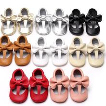 New Style T-bar design baby moccasins Genuine Leather Newbor