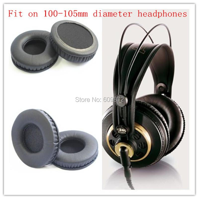 Linhuipad 100-105mm Protein Ear Cushions headphone leather earpads for Beyerdynamic dt880 dt860 dt990 dt770 2pcs/lot