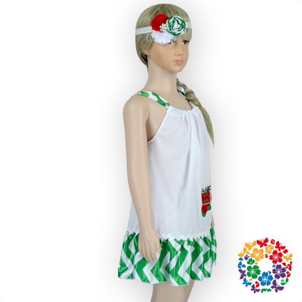 e2ed95cb563b 24PCS/LOT Red Green White Christmas Tree Girls Party Dresses Latest Dress  Designs Boutique Girl Clothing 3 Year Old Girl Dress