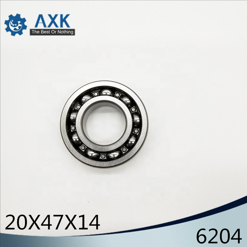 6204 Bearing 20*47*14 Mm ABEC-3 P6 ( 2 PCS ) For Motorcycles Engine Crankshaft 6204 OPEN Ball Bearings Without Grease