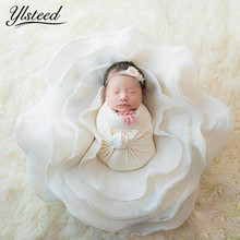 ylsteed Newborn Baby Wool Rose Blanket Floral Photo