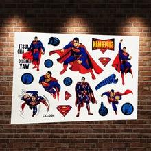The Incredibles Temporary Tattoo Stickers Superman Waterproof Flash Tattoo Super Heros Man Fake Tatoo Inspire Justice Tatoo