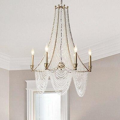 Candelabro de cristal de 2017, de cristal de acabado antiguo candelabro, accesorio de iluminación para el hogar, país americano, luces colgantes D70cm H96cm