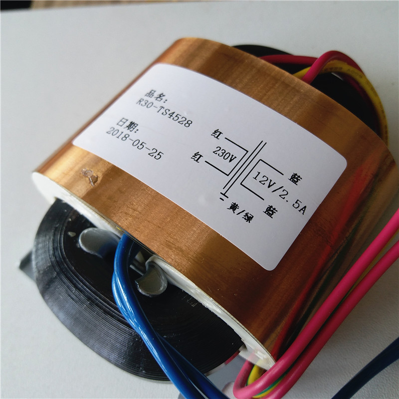 12V 2.5A R Core Transformer <font><b>30VA</b></font> R30 custom transformer 230V copper shield for Pre-decoder Power amplifier image