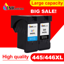 INKARENA PG-445 CL-446 PG 445 CL 446 XL Ink Cartridge for Canon PG445 CL446 XL Refilled Cartridges MG2440 MG2540 MG2940 Printer wholesale 3bk 2cl pg 740 cl 741 pg740xl cl741xl ink cartridge with chip new version for canon mx517 mx437 mx377 mg4170 printer