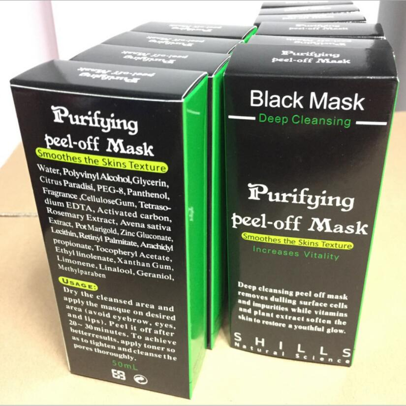 By DHL Shills Black Mask Activated Carbon Charcoal Mask Blackhead Facail Mask Deep Cleansing Purifing Black