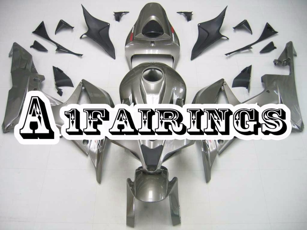 Fairings for Honda CBR600RR F5 2007 2008 ABS Plastic Injection Body Kits Motorcycle Hulls F5 07 08 Carenes Gloss Grey Body Frame