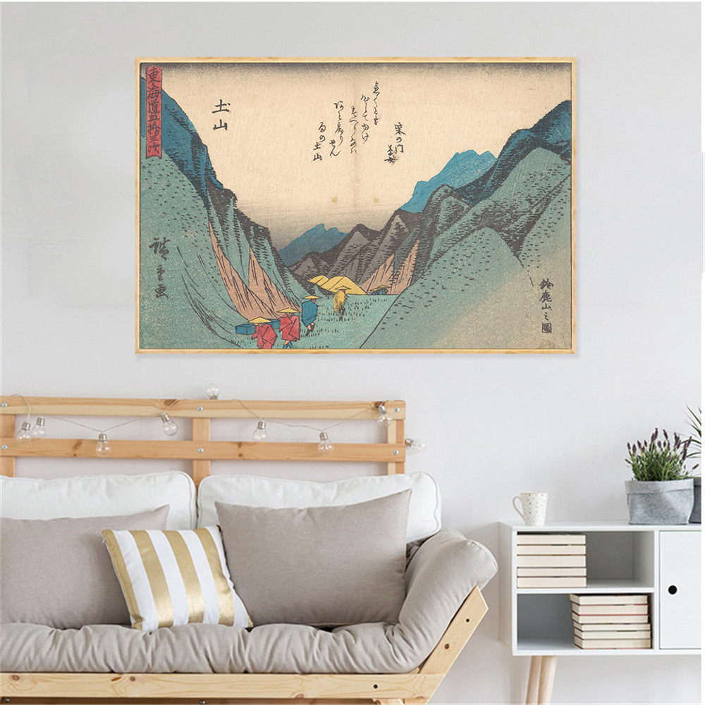 Aliexpress.com : Buy Poster Vintage Wall Print Hanging Wall Art Japanese  Quotes Canvas Paintings Living Room Decoration Baby Room decor Cuadros from  ...