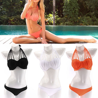 Sexy Women Bikini Set Push Up Strappy Bandeau Swimwear Swimsuit Beachwear Bathing S M L XL