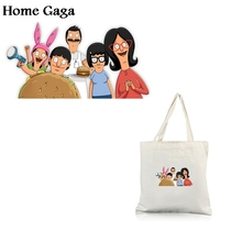 Homegaga bobs burger Clothes Heat press Transfers Stickers Iron on Patch Handmade Decoration Appliques Jeans T-shirts D1760