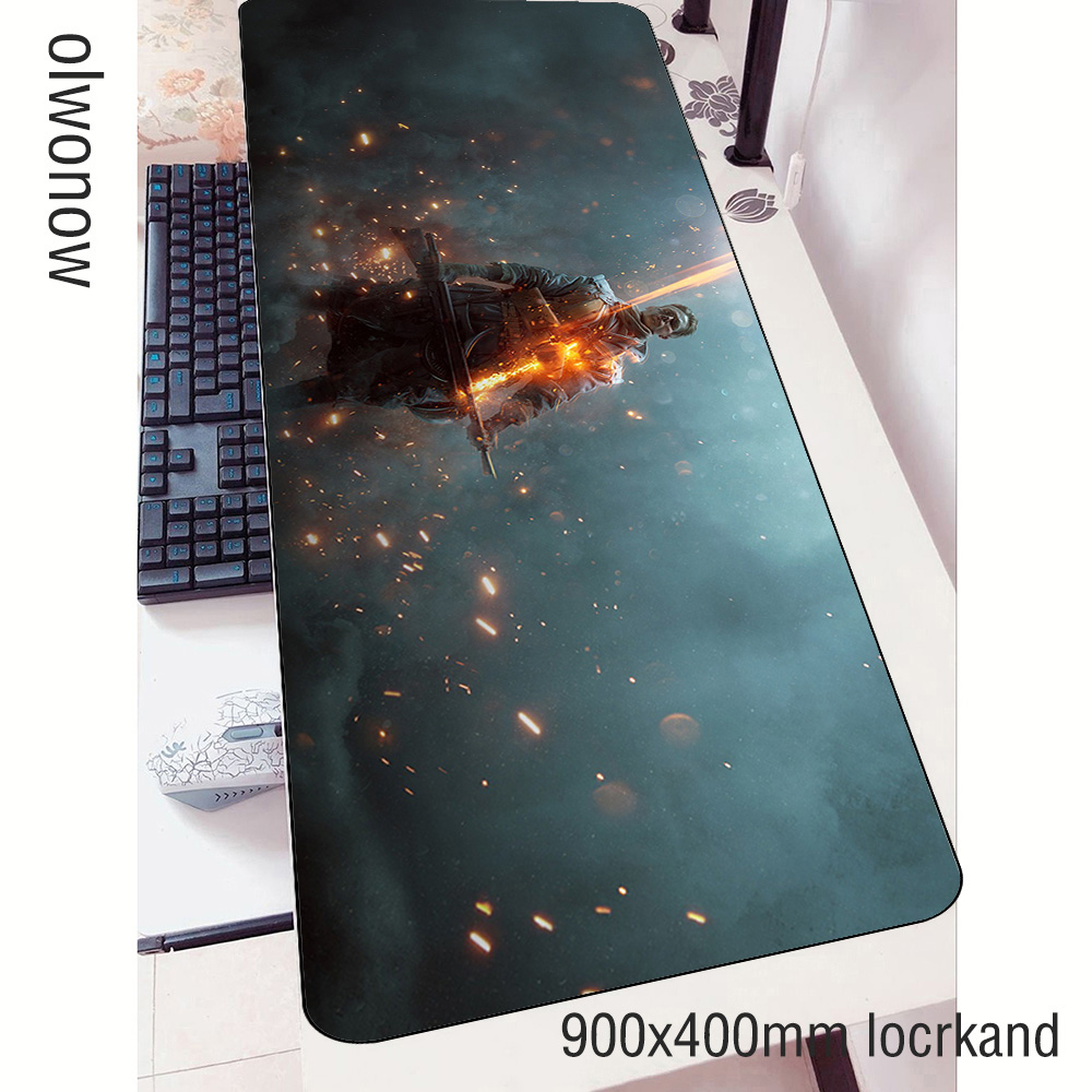battlefield <font><b>padmouse</b></font> <font><b>900x400x3mm</b></font> gaming mousepad game New arrival mouse pad gamer computer desk thick mat notbook mousemat pc image