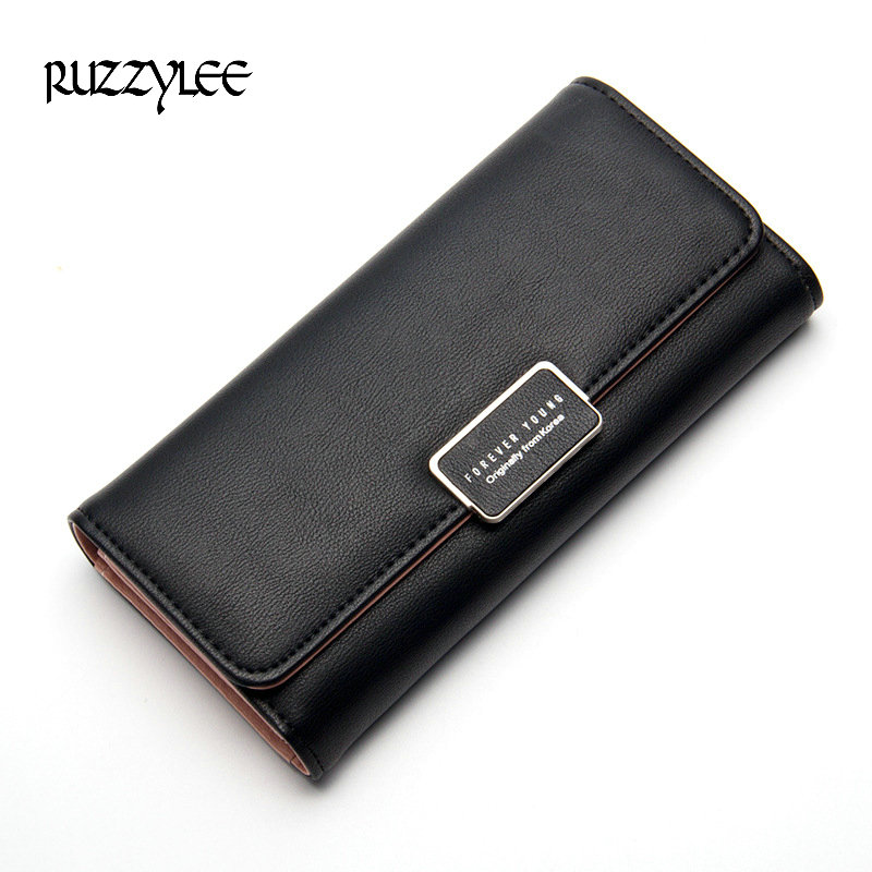 2017 New Woman Wallets 3 Fold Top Quality Lovely Leather Long Women Wallet Girls Purse Female Coin Card Holders Purses Carteras vintage card holders women wallet clutch wallet womens wallets and purses leather purse for the girls coin purse carteras mujer