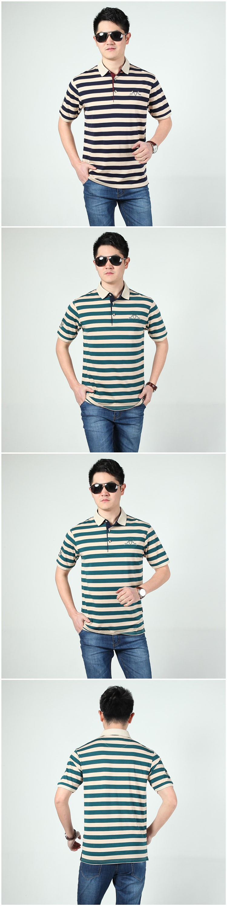 Polo Shirts Men Fashion Brand Striped Cotton Polos Slim Fit Summer Short Sleeves Male Casual Shirts Top Quality Plus Size 3XL (8)