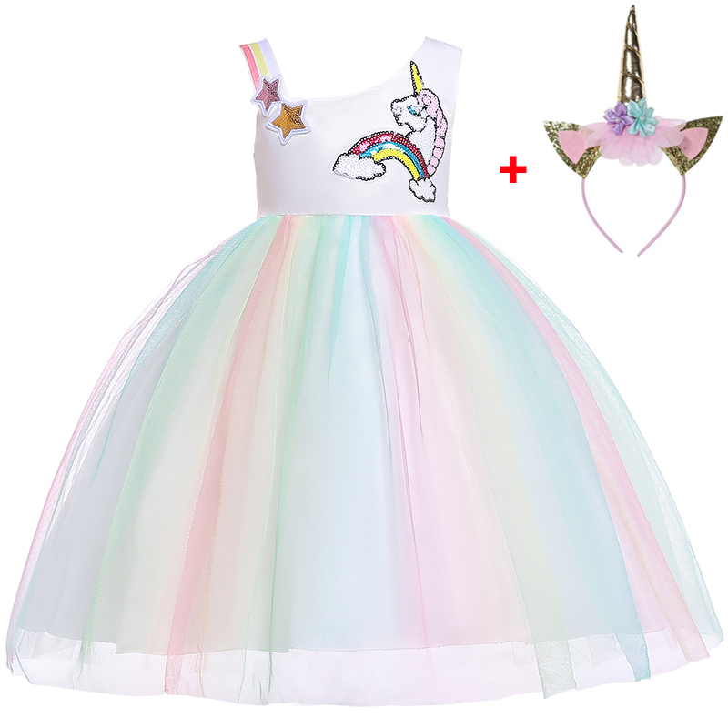 Kids's Women Princess Costume Unicorn Social gathering Costume Lady New Yr Carnival Costume Youngster Youngster Clothes 2 three four 5 6 Years Attire, Low-cost Attire, Kids's Women Princess Costume...