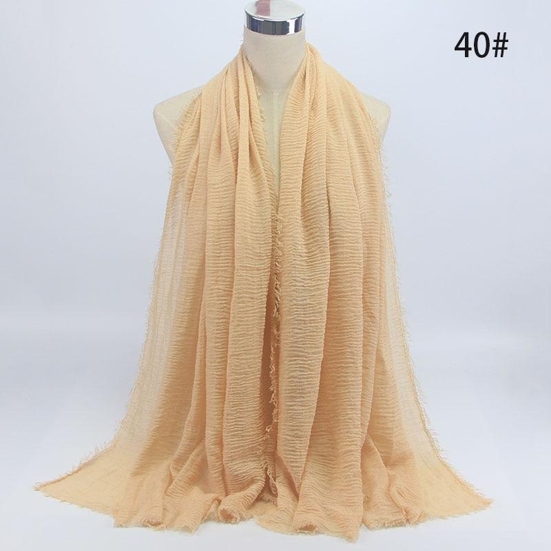 wholesale price 70*180cm women muslim crinkle hijab scarf femme musulman soft cotton headscarf islamic hijab shawls and wraps