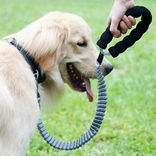Dog Nylon Leash For Small Large Dogs Flexible Rope Pet Anti Shock Buffer Telescopic Traction Products