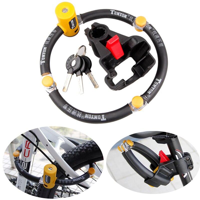 TONYON Anti-theft Bicycle Lock Professional Foldable Bike Lock MTB Road Cycle Anti-hydraulic Shear Chain 58CM Lock Bicycle Locks